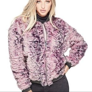 Guess Penny Fur Bomber Jacket